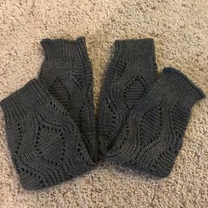 Forever 21 charcoal cable knit leg warmers